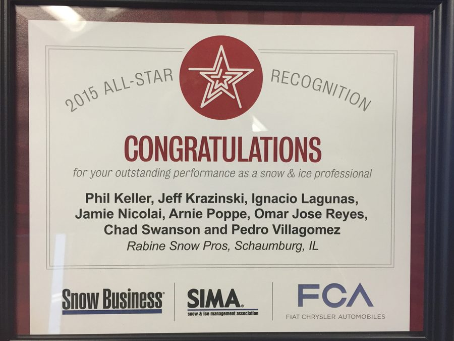 Rabine Snow Pros is Recognized by SIMA