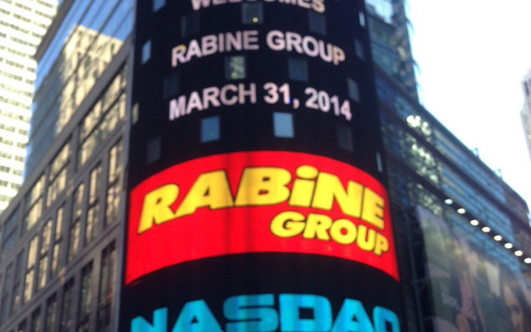 Rabine Group welcomed by Nasdaq in 2014