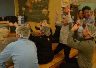 Rabine Paving Employees enjoying the Rabine Group Foundation's volunteer activities